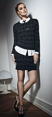 Fransa Damen Shirt Pullover Rock Kombination Outfit grau schwarz elegant NEU