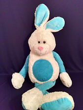 Easter Bunny Rabbit Plush White Blue arms Jumbo Giant Best Made Toys 2013