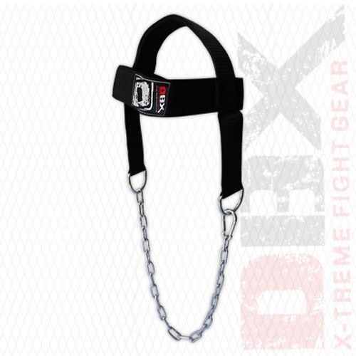 FS Head Neck Harness Strap Neck Support Dip Weight Lifting With Chain Gray New