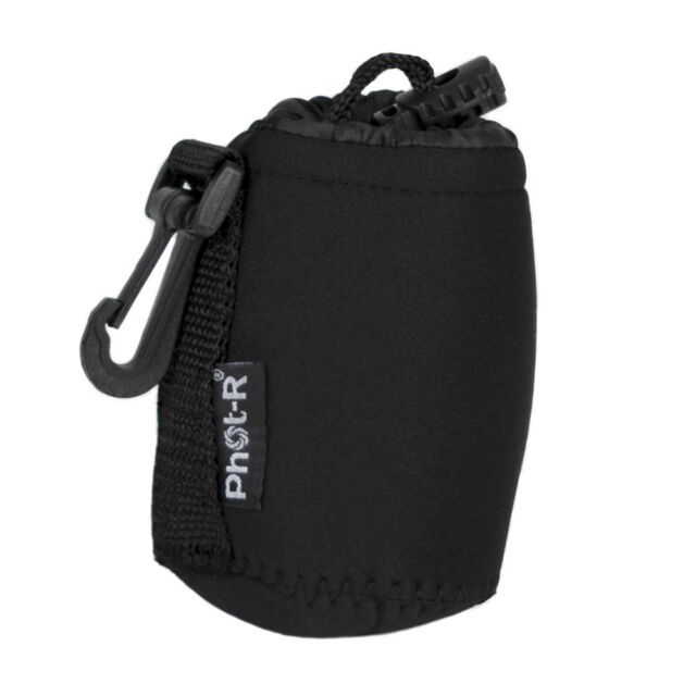 Phot-R Neoprene DSLR Camera Lens Soft Protector Carry Case Bag Pouch - Small