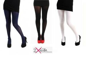 4d620d5280568 50 DENIER OPAQUE TIGHTS ONE SIZE PLUS SIZE 16 TO 32 XL XXL XXXL ...