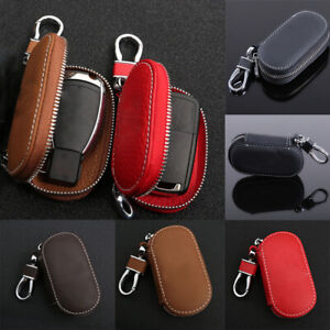 Coin Purse Solid Auto Universal Zipper Car Key Bag Key Cover Leather Case