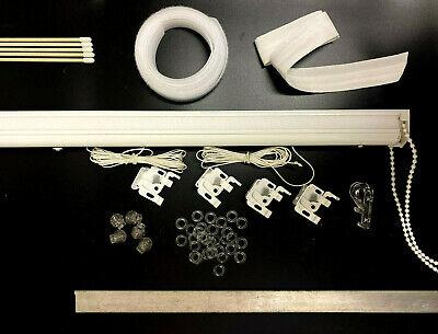 270cm Cassette Roman Blind Complete DIY Kit  Chain Heavy Duty 4 Chain Colours
