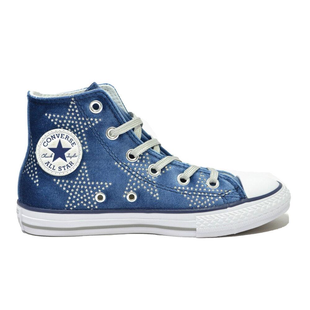 CONVERSE Scarpe RAGAZZA scarpe BAMBINA  All Star Hi  NEW scarpe da ginnastica NUOVE Donna Nvy