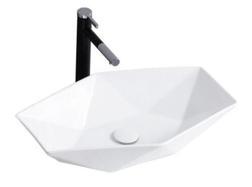 Waschbecken Spüle Aufsatzbecken Keramik VEGA 6-eckig Waschtisch REA neu