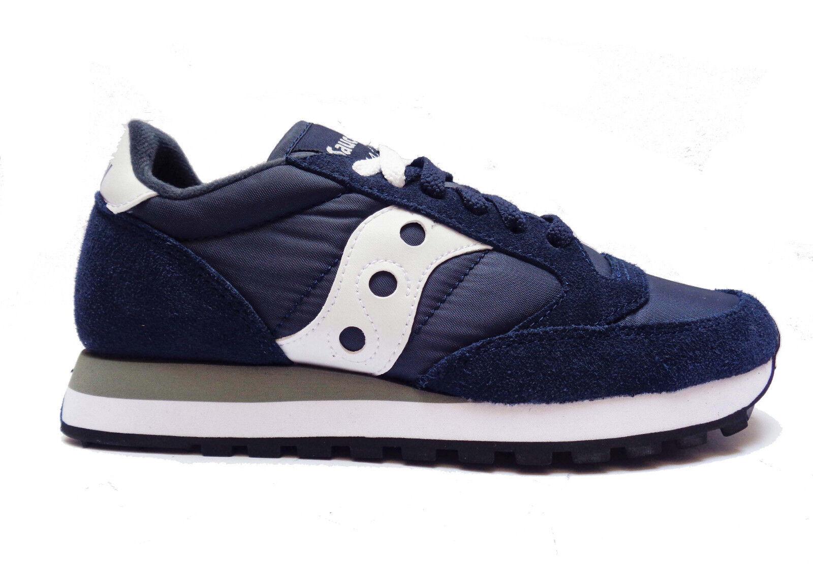 SAUCONY 2044-316 zapatos CASUAL DA hombres zapatillas IN CAMOSCIO-TESSUTO azul-BIANCO