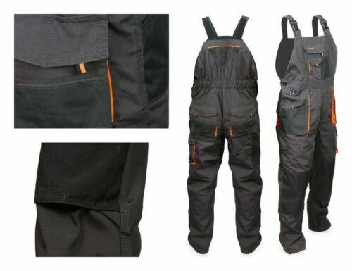 Nouveau Bib and Brace Overalls Hommes Pantalons De Travail Pantalons Dungarees Multi Genou Pad Poches