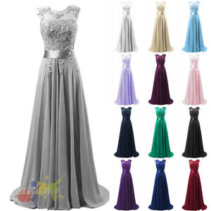 good out x sold worldwide sells Details about Bridesmaid Dress Chiffon Long Evening Wedding Party Ball Gown  Prom Dresses