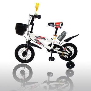 New-12-034-Children-Boys-Kids-Bike-Bicycle-With-Training-Wheels-Steel-Frame