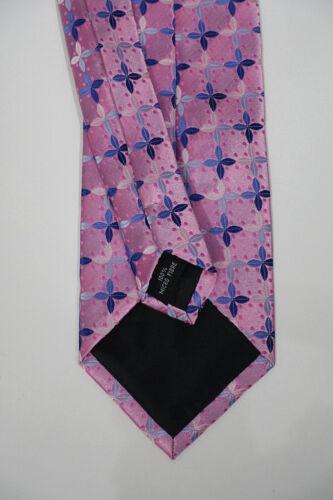 Business Krawatte Czako Herren Anlass NEU rosa mit blauer Musterung Trauung