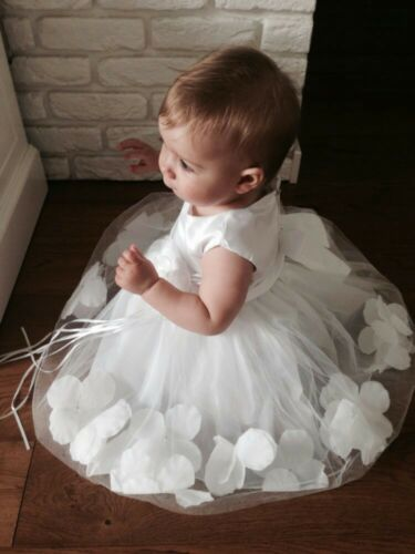 FREE Headband Baby Girl Dress Christening Wedding Birthday Party Bridesmaid 0-9Y