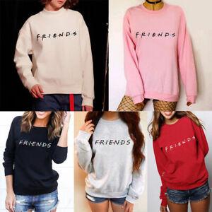 UK-Womens-FRIENDS-Print-Hoody-Sweatshirt-Slouch-Pullover-Sweater-Jumper-Tops