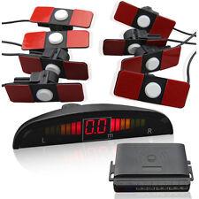 Parking Assist System Kit LED Display Car Reverse 8 Flat Sensors Front Rear