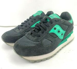 Possibile condensatore Analitico  Saucony Womens Shadow Charcoal Gray Mint Green Running Shoes S1108-587 Size  6 US | eBay