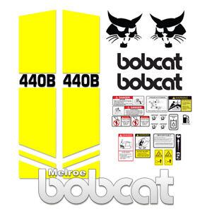 Bobcat 440B Melroe Skid Steer Set Vinyl Decal Sticker 3M - 25 PC