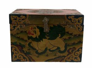 Cofanetto Scatola Buddista Leopardo Dei Frozen Tibet 28 CM Per Tibetano 9956