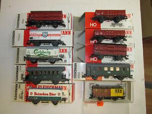 Convolute-10-Fleischmann-Scale-H0-Freight-Car-Passenger-Cars-Original-Package