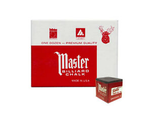 Master Billiard/pool Cue Chalk - Charcoal/dark Gray - 1 Pack/12 Pieces Prix ​​ModéRé