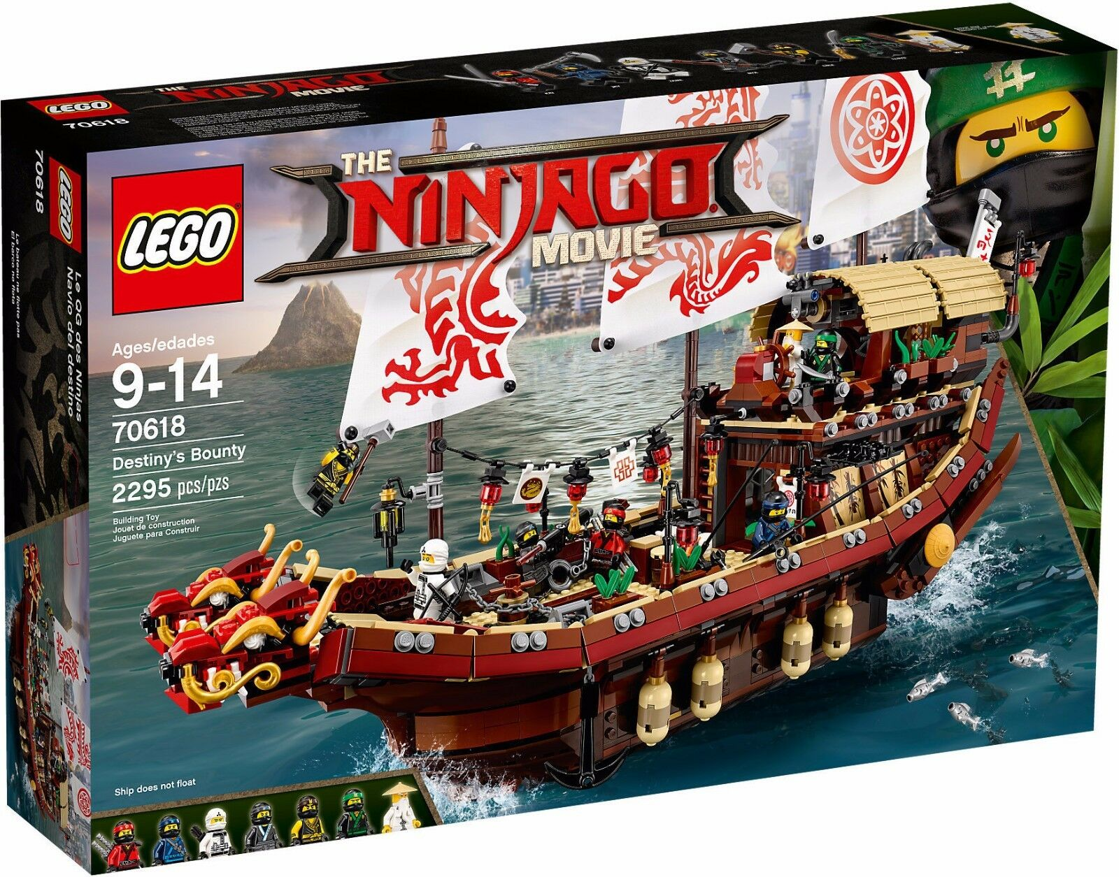 LEGO THE NINJAGO MOVIE 70618 VASCELLO DEL DESTINO NUOVO