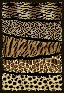 6 X 8 African Safari Animal Skins Print High Quality