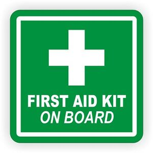 4 Quot First Aid Kit On Board Vinyl Decal Sticker Labels