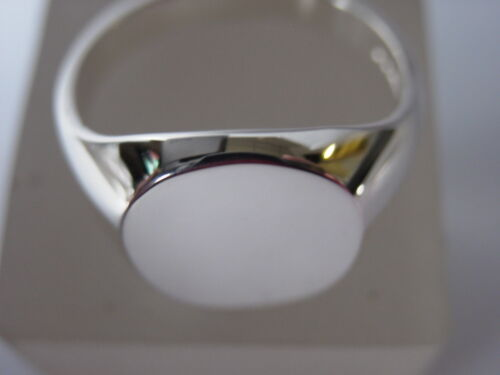 STERLING SILVER 16X14 OVAL SIGNET RING UK MADE AND HALLMARKED