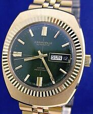 Bulova Caravelle vintage 1971 automatic 17j gp/ss Swiss watch with Speidel band