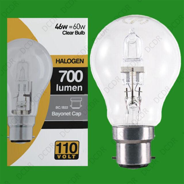 4x 100W 110V BC Pearl GLS Light Bulb Construction Site Festoon Bayonet B22 Lamps