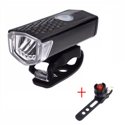 Rechargeable Bike Headlight  1000mAh 300 Lumen 6000K  Flashlight Dynamo Light