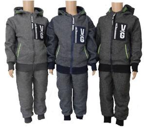 Kinder-Jogginganzug-Neu-Jungen-Trainingsanzug-2-Tlg-Kinder-Jacke-Jogginghose