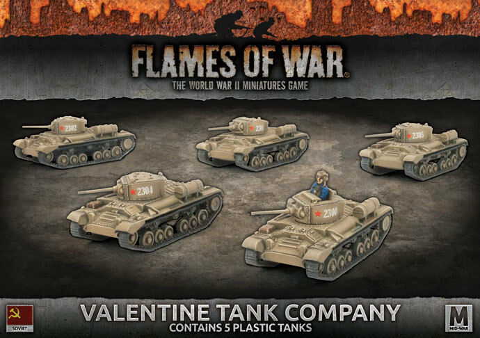 Valentine Tank Company (x5)(Plastic) Battlefront Miniatures