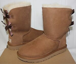 ad4c61ce1e UGG Women s Bailey Bow II 2 Chestnut suede boots 1016225 New With ...