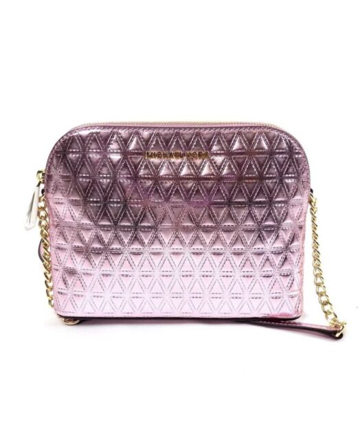 michael kors soft pink leather large dome crossbody purse 32h7gf5c3k rh ebay com