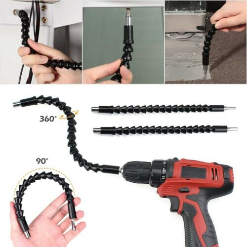 Flexible Drill Extension Hex Shank Drill Nut Driver Bit Set,Bendable Drill A6S4