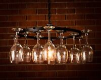 Wine Glass Chandelier Light Lighting Chain Wine Decor No Wiring Required