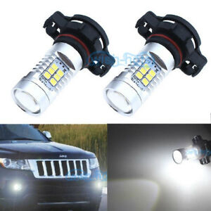 Details About 2x 21smd White Led Fog Psx24w Light Bulbs Lamp For Jeep Grand Cherokee 2011 2012
