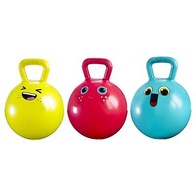 21cm Pink Green Blue Hopper Hop Ball Boys Girls Kids Jump Bouncing Bounce Indoor