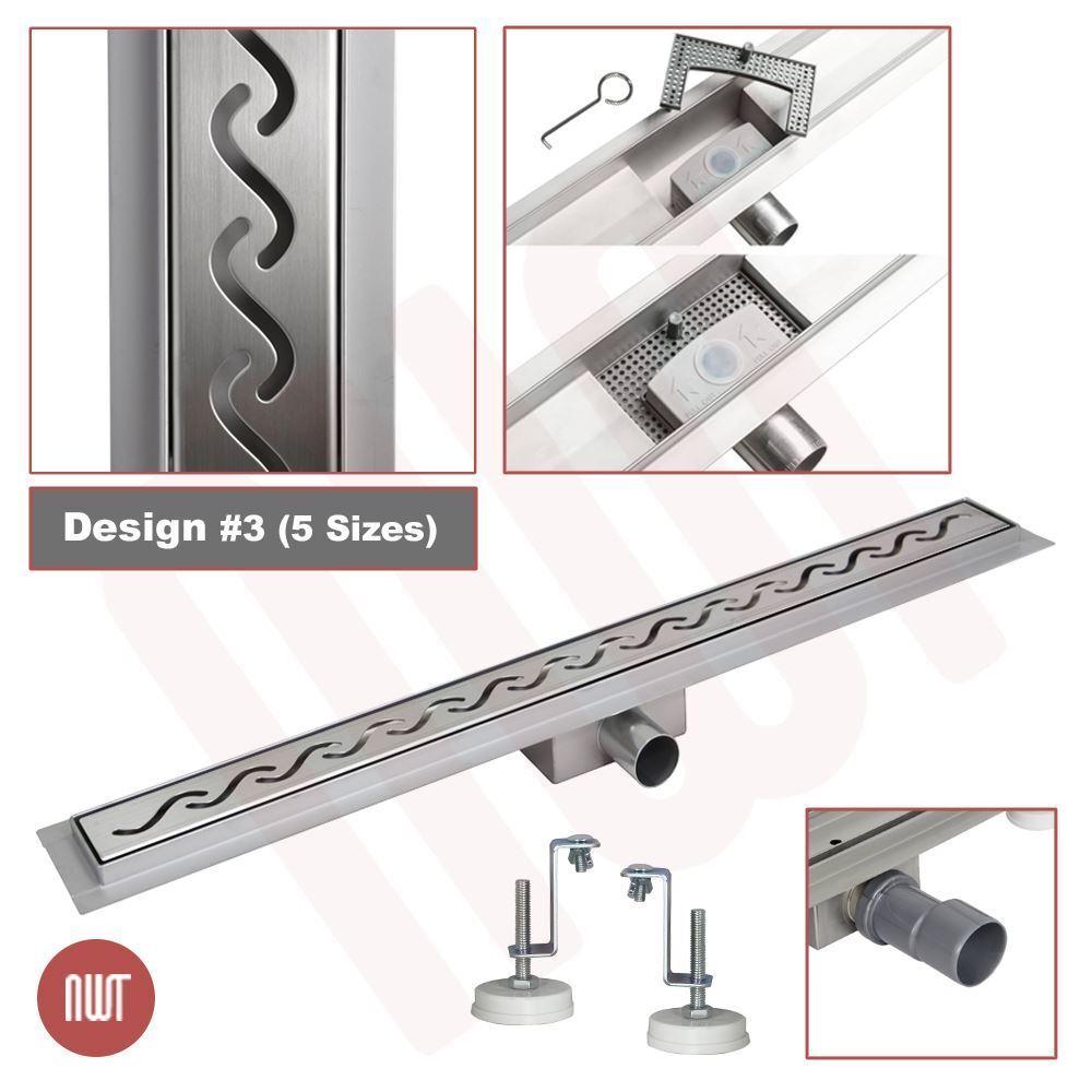 800 mm Largo Acero Inoxidable Rectangular Diseño Lineal pavimentos de drenaje (3)