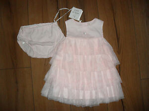 DESIGNER-EMILE-ET-ROSE-BABY-GIRL-PINK-COTTON-TULLE-PARTY-DRESS-AGE-3-MTHS-BNWT