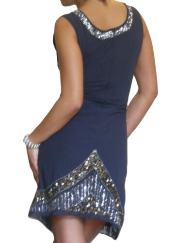 Ladies Gatsby Dress 1920s Flapper Party Evening Mini Size 8 10 12 14 16 18
