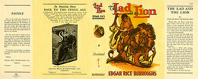 The Lad And Lion Faksimile -umschlag 1 Burroughs Edgar Rice Verantwortlich Edgarburroughs