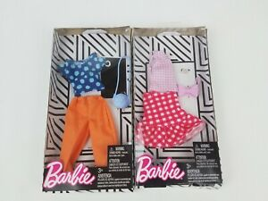 Barbie-Fashion-looks-Gingham-Skirt-tops-shirt-accesories-lot