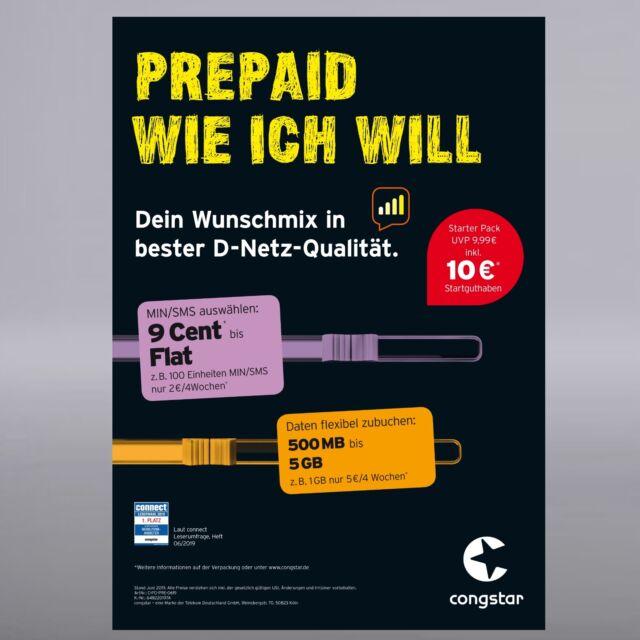 Congstar Prepaid Karte Kaufen.Congstar Prepaid Wie Ich Will Starter Pack