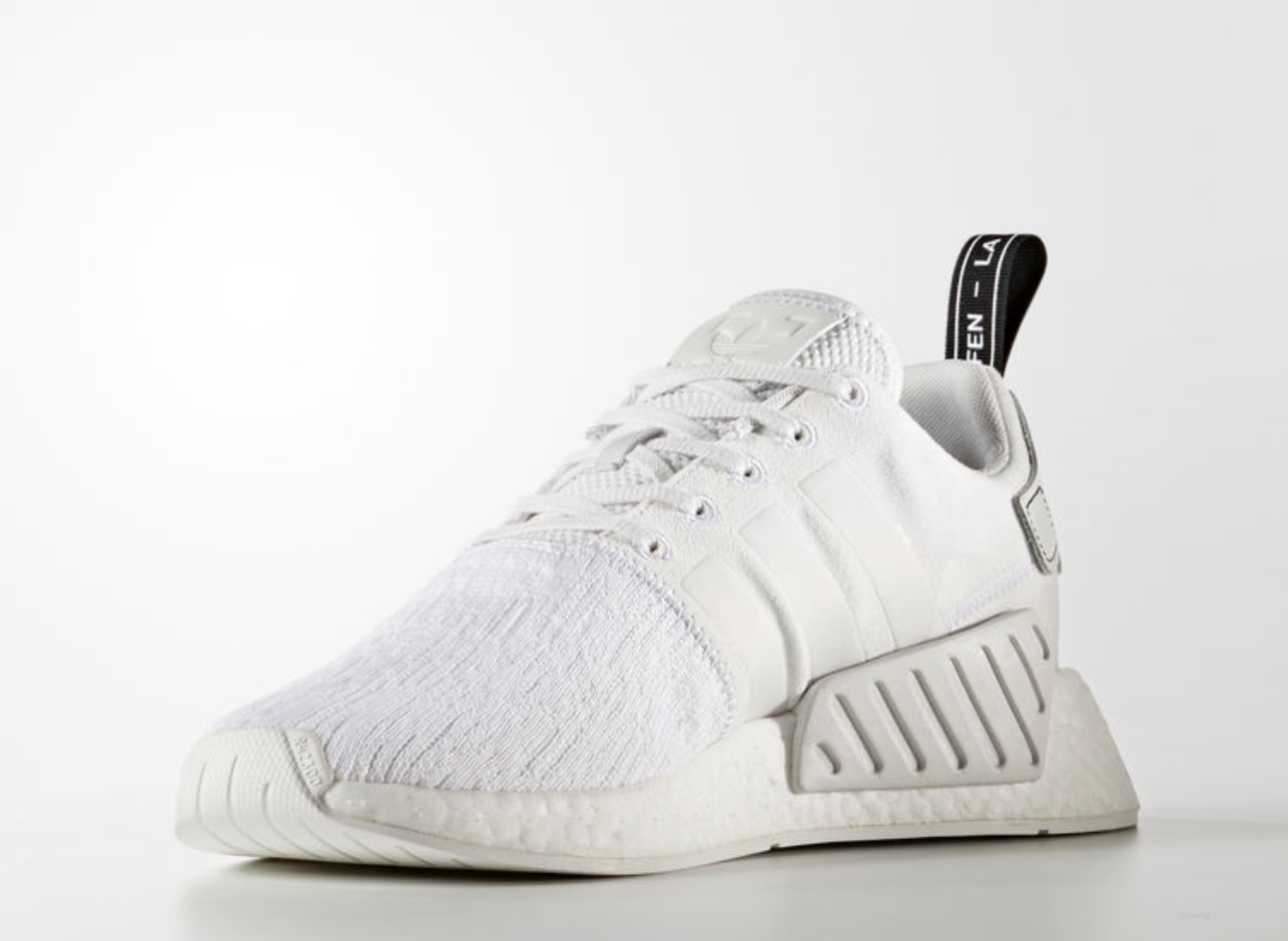 Adidas Originals NMD_R2 NMD_R2 NMD_R2 UK 4.5 EU 37 1 3 White Black Running shoes Trainers NEW 991773