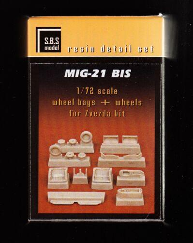 MiG-21 bis sb708// S.B.S TOPP 1//72 Resin model Fahrwerk detail set