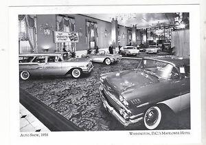 Postcard-034-Auto-Show-034-1958-The-Washington-039-s-D-C-039-s-Mayflower-Hotel-A89-2