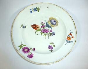 Plat En Porcelaine Assiette Meissen (xviii) Siècle Période Peinture De Fleur Bnfa5k2n-10113434-666884339
