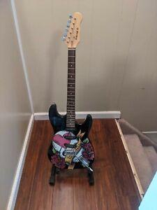Mahar Import Love Kills Black Electric Guitar 1990's Black