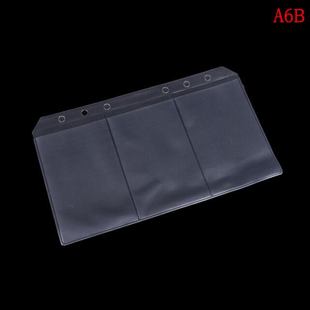 54d78f90b3af A5/a6 Transparent Zip Lock Envelope Binder Pocket Refill Organiser  Stationerrsuj A6 Business Card Models