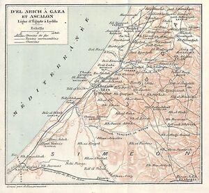 ISRAEL-DE-EL-ARICH-A-GAZA-amp-ASCALON-PLAN-MAP-1936
